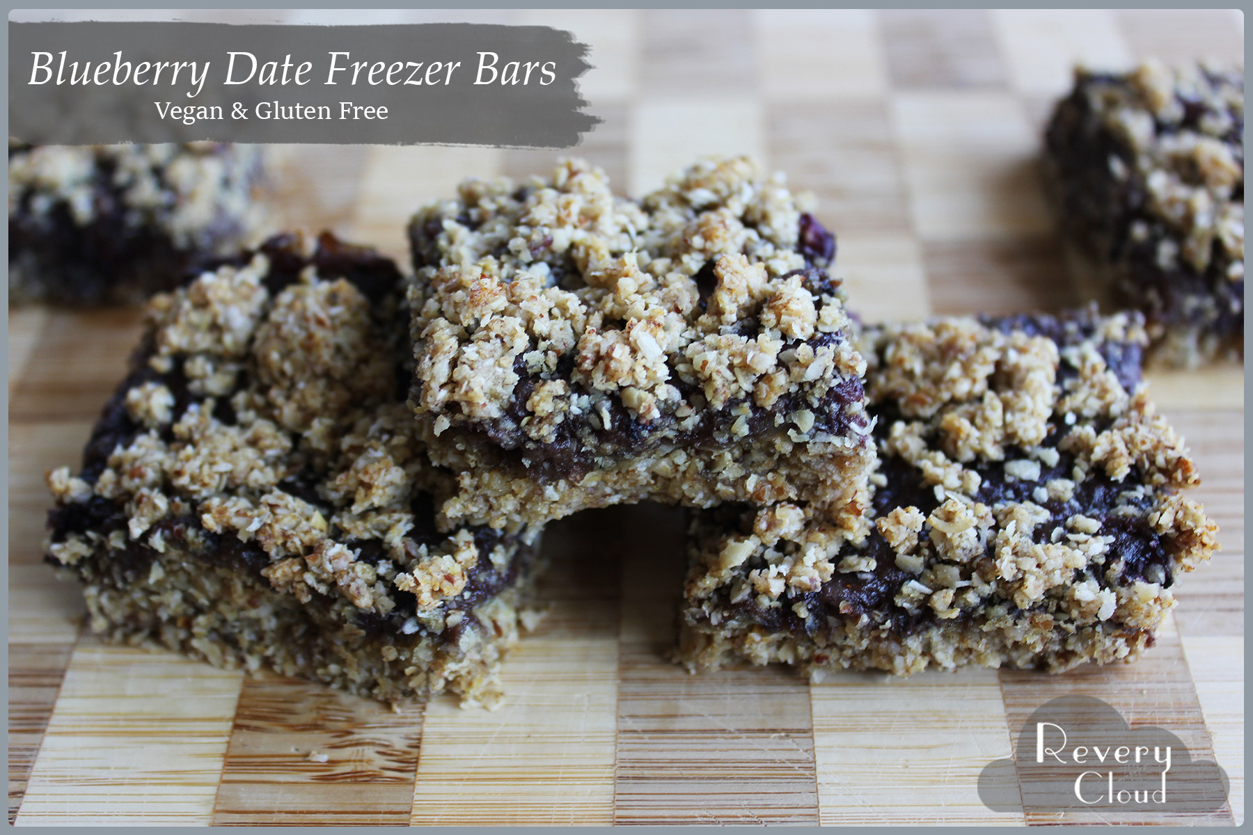 Blueberry Date Freezer Bars (Vegan & Gluten Free) || www.reverycloud.com