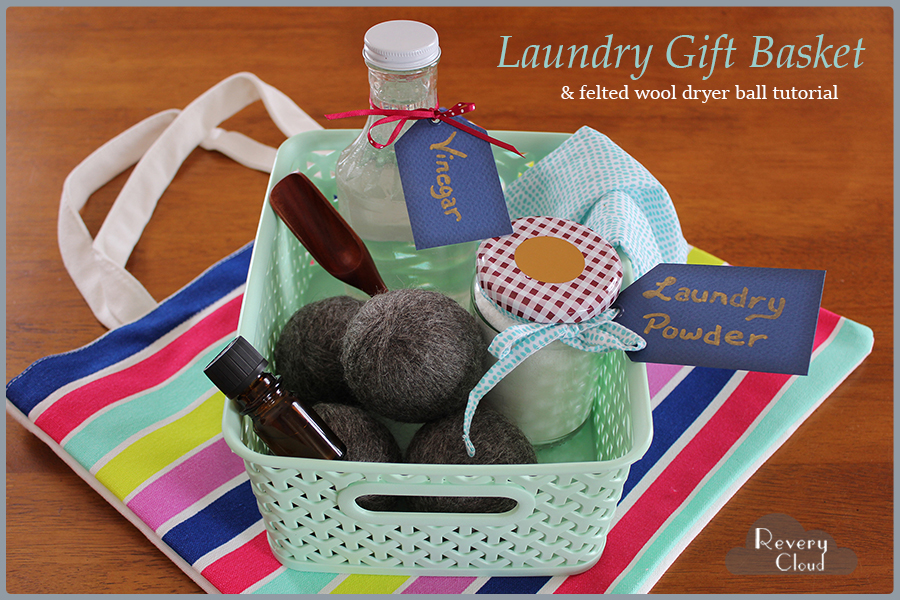 Laundry Themed Gift Basket Idea || Great to give as a housewarming gift or for anyone that loves handmade items || www.reverycloud.com