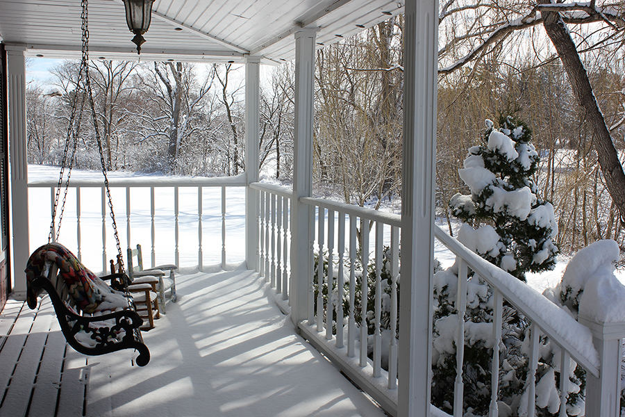 From the front porch through freshly fallen snow in the middle of March ~Revery Cloud