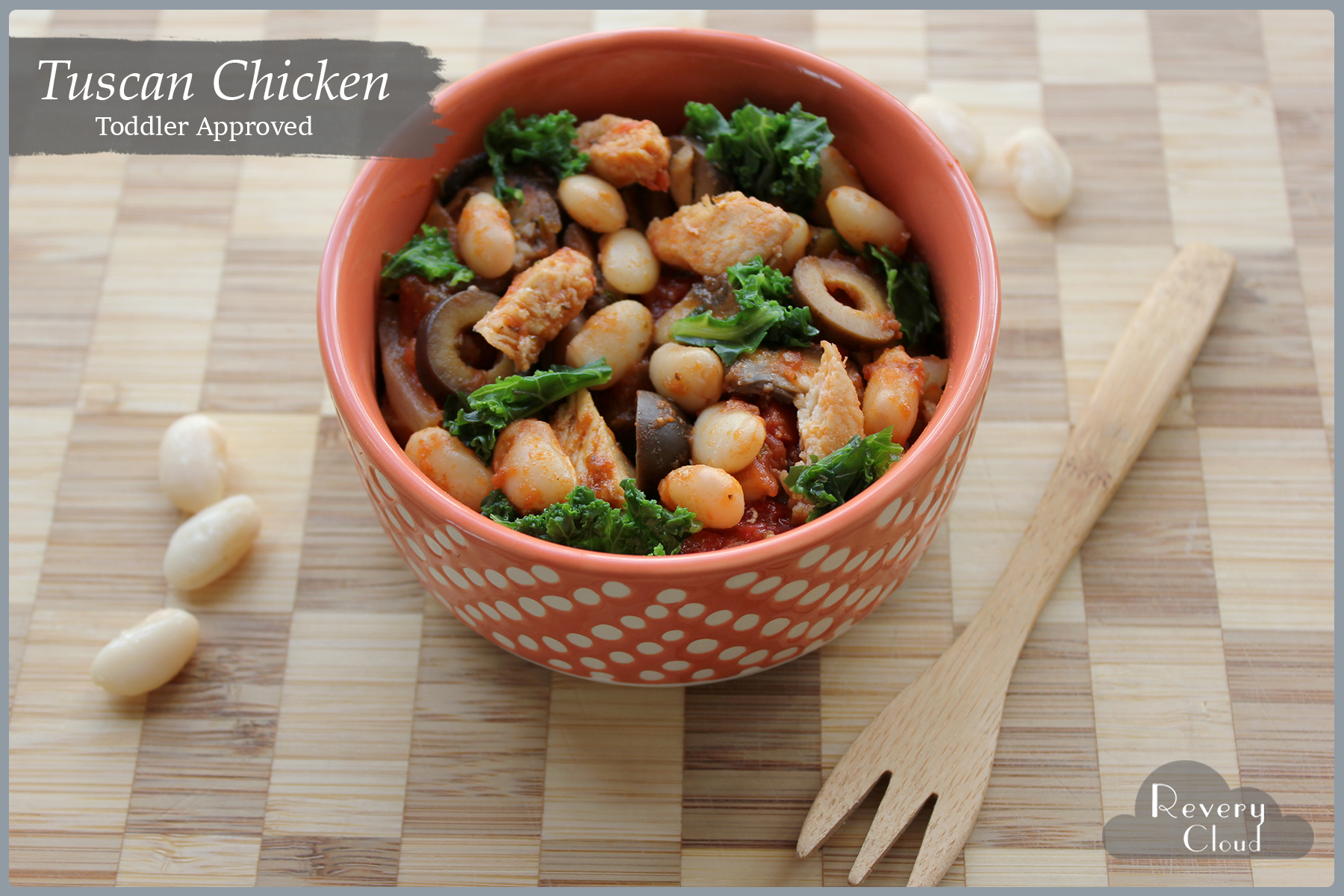 Tuscan Chicken || A one skillet protein packed flavorful dish (Toddler Approved) || www.reverycloud.com
